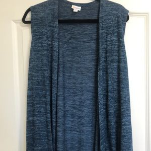 NWT LuLaRoe Blue Heather Joy Long Vest